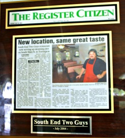 A news article covering the opening of the new location in 2004 still rests on the wall inside the restaurant. - © Tabitha Guarnieri