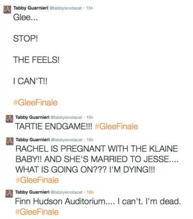 glee tweets collage