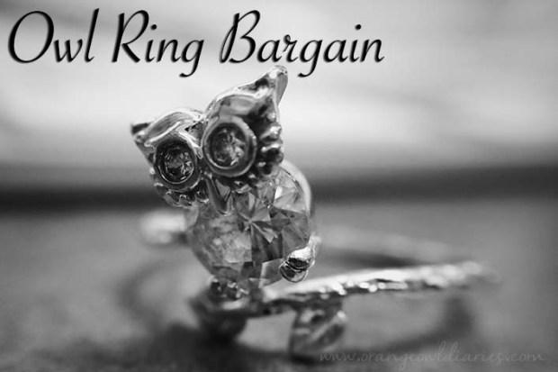 owl ring bargain