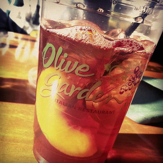 olive garden peach iced tea