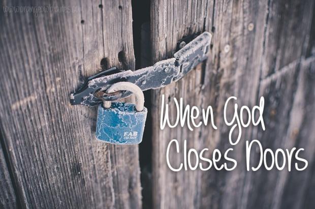 when God closes doors