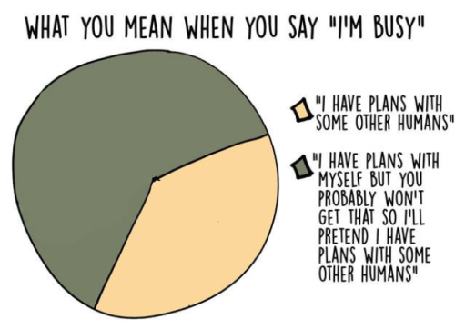 busy introvert