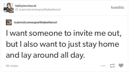 introvert tumblr post