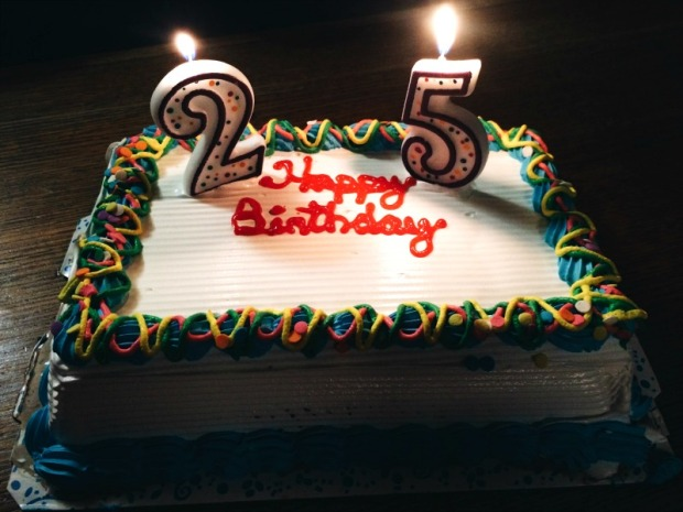 25 birthday cake