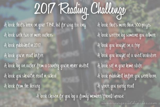2017 reading challenge orangeowldiaries