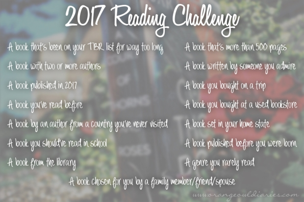 2017 reading challenge orangeowldiaries